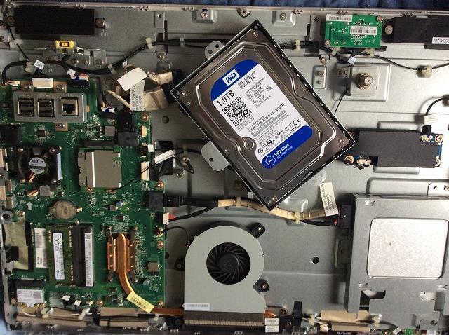NEC 一体型PC HDDデータ復元交換修理
