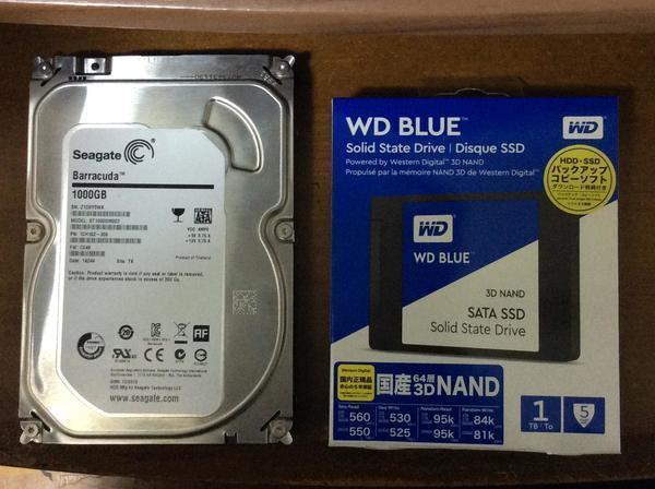HDDデータ復元及びSSDへの換装