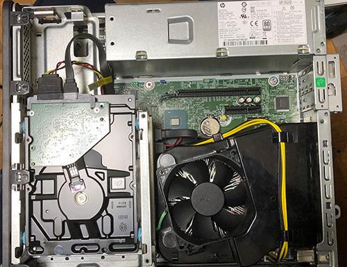 HP HDDを換装SSD