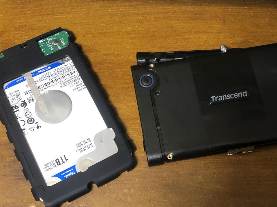 Transcend外付けHDDデータ復元