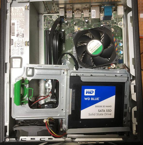 HP パソコンSSD換装