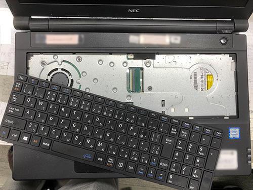 PC-VRT25FB6S4R4 キーボード交換